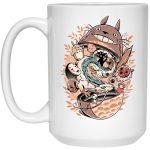 Totoro Daruma and Ghibli Friends Mug 15Oz