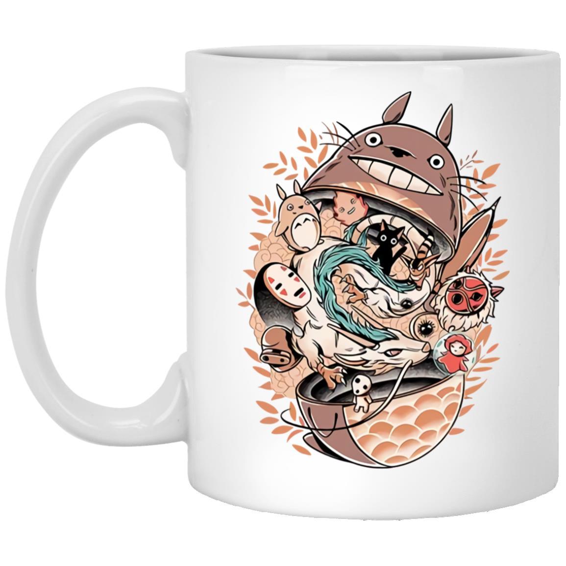 Totoro Daruma and Ghibli Friends Mug