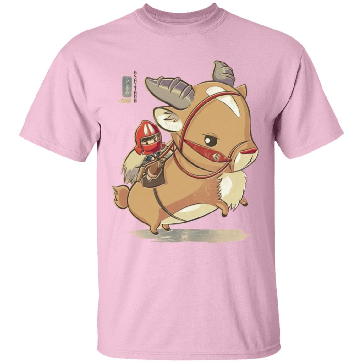 Princess Mononoke Ashitaka  and Yakul Chibi T Shirt