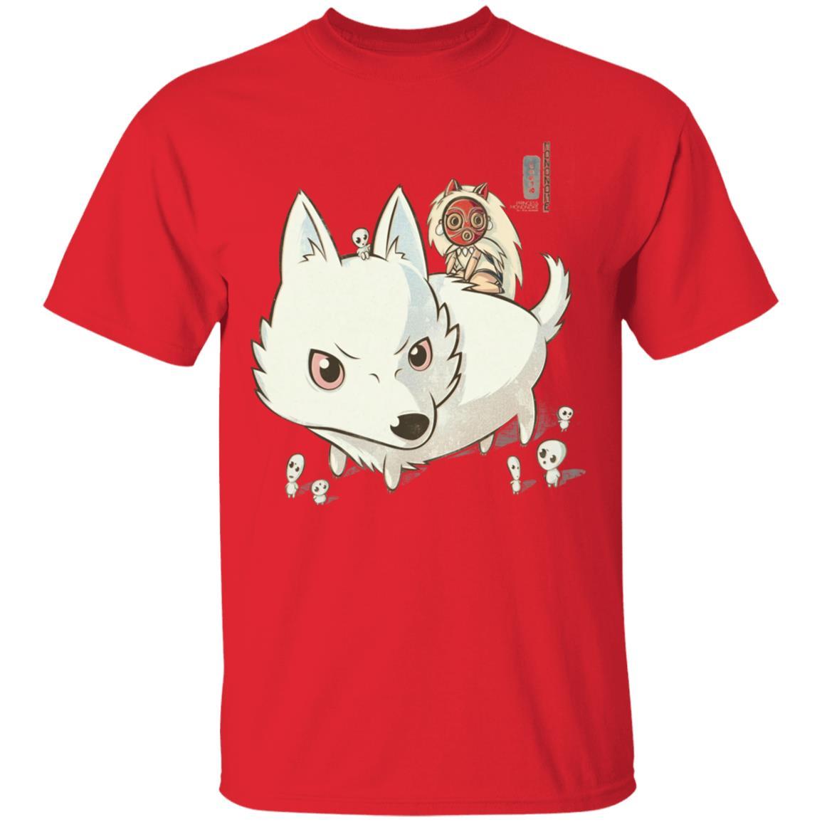 Princess Mononoke and The Wolf Cute Chibi Version T Shirt