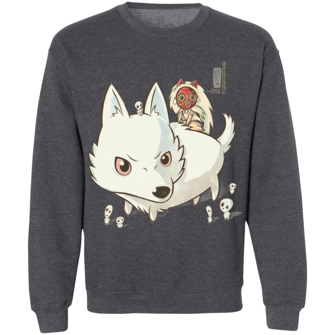 Princess Mononoke and The Wolf Cute Chibi Version Sweatshirt