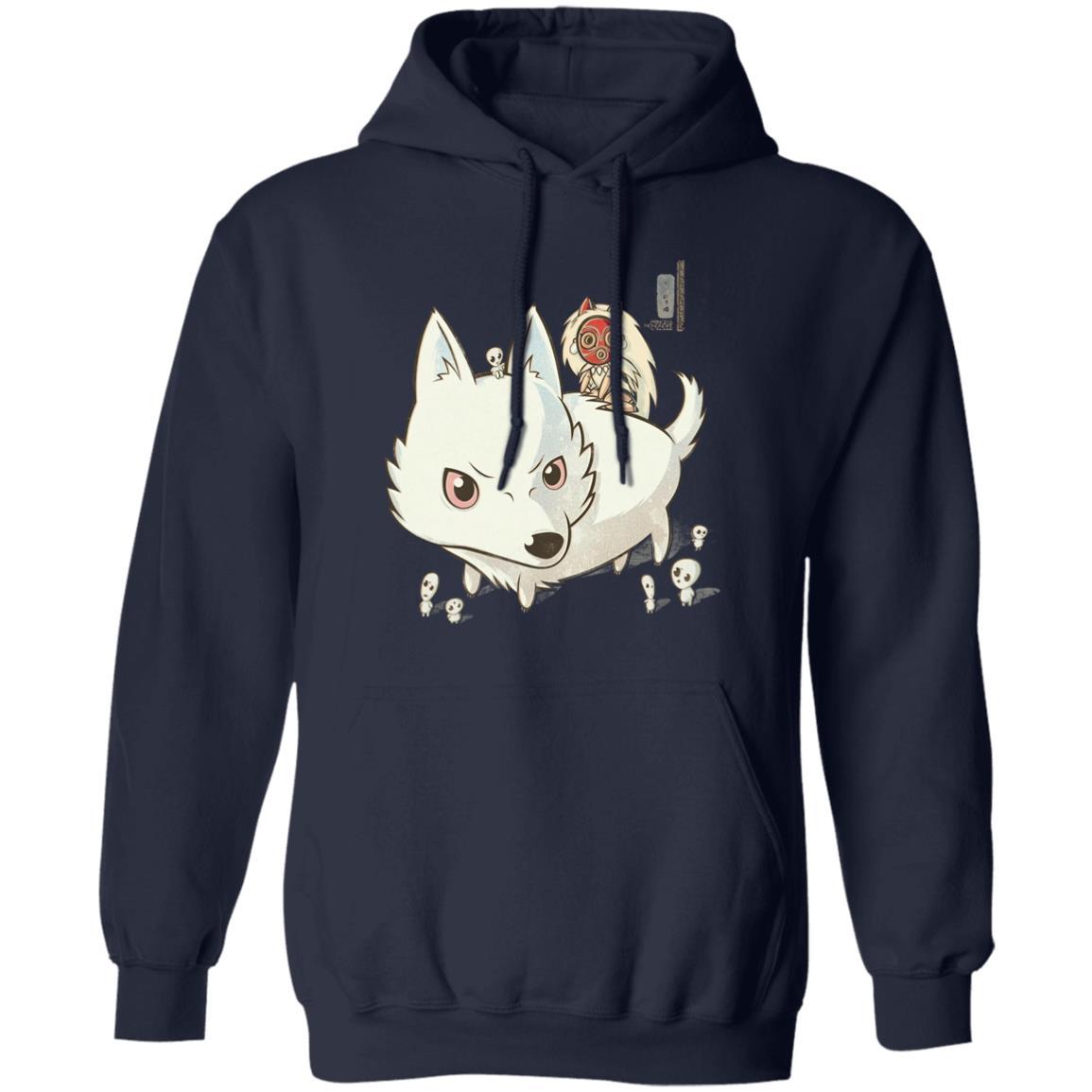 Princess Mononoke and The Wolf Cute Chibi Version Hoodie