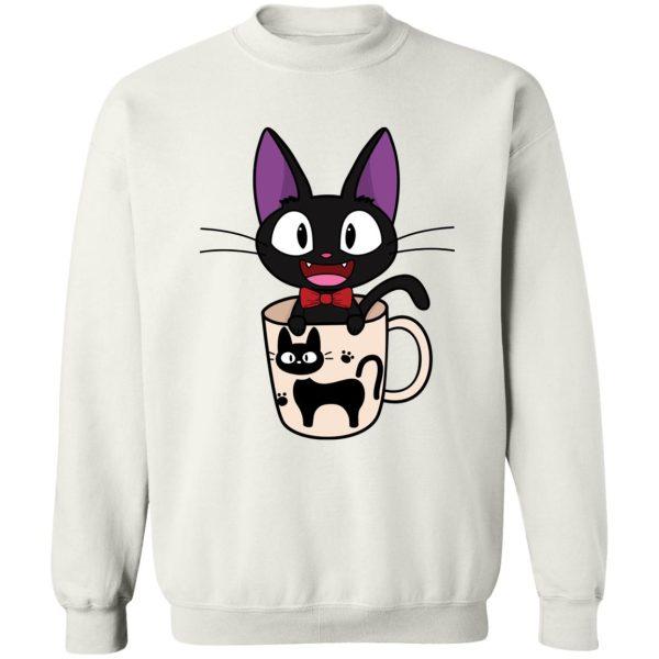 Jiji in the Cat Cup Sweatshirt