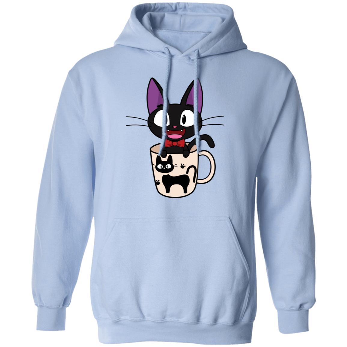 Jiji in the Cat Cup Hoodie