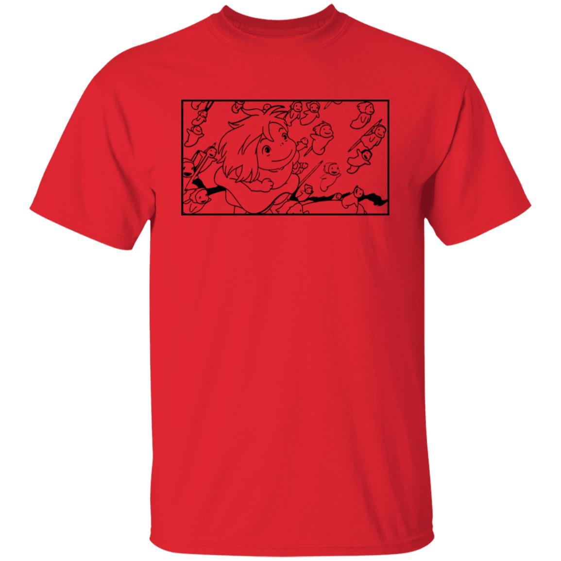 Ponyo – Freedom Sketch T Shirt