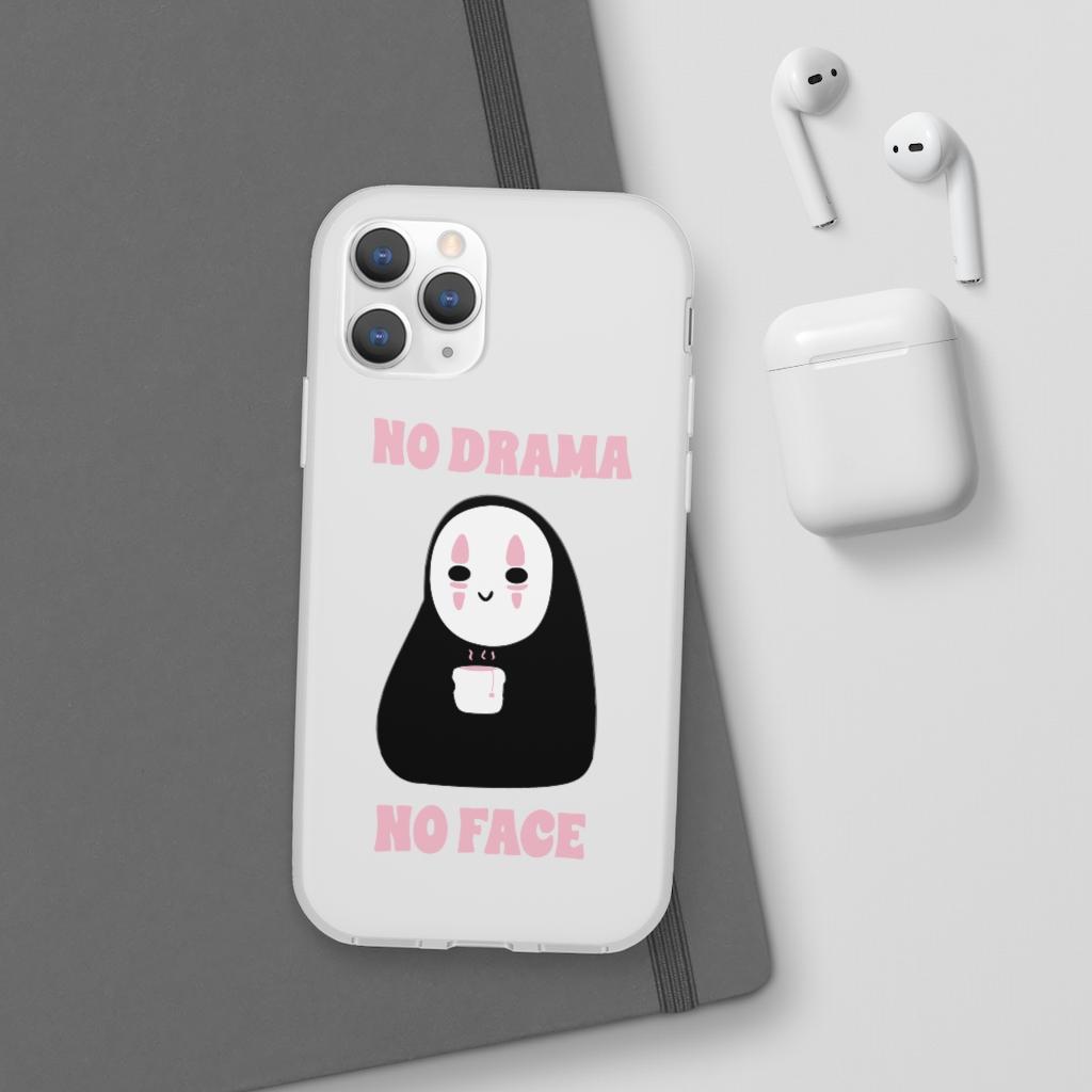 No Drama, No Face iPhone Cases