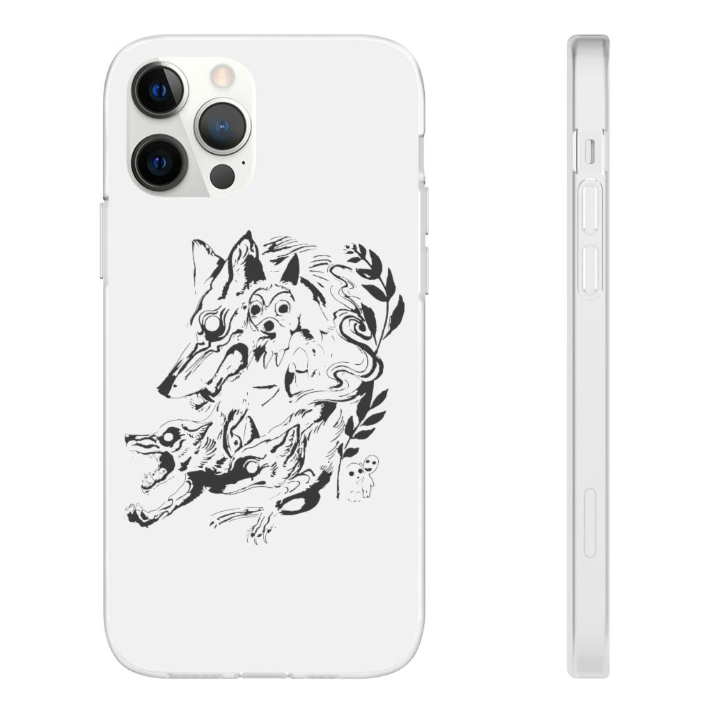 Princess Mononoke and The Wolf Creative Art iPhone Cases