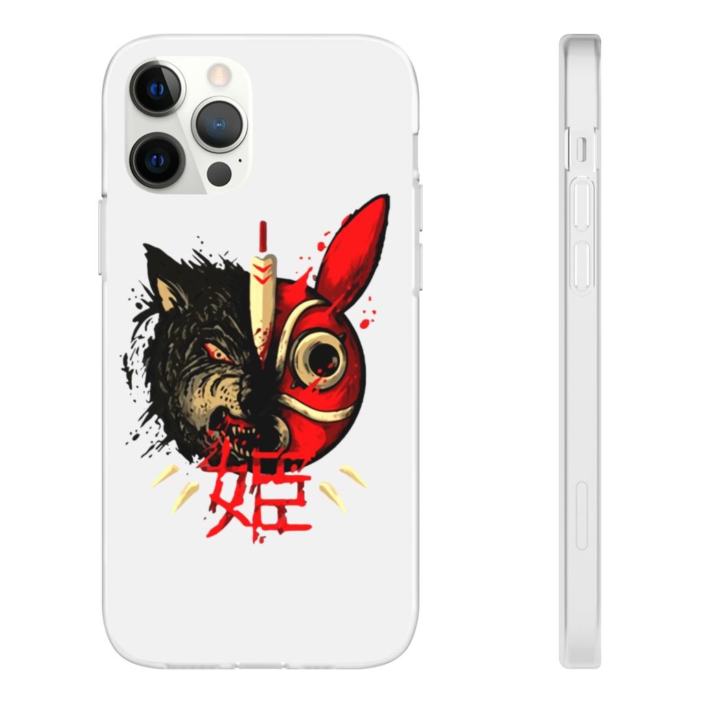 Princess Mononoke Mask & Wolf iPhone Cases