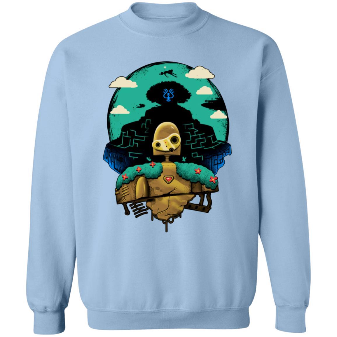 Laputa: Castle in The Sky and Warrior Robot Sweatshirt
