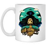 Laputa: Castle in The Sky and Warrior Robot Mug 11Oz