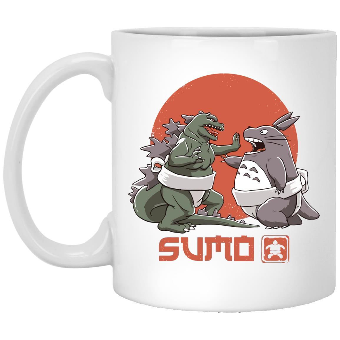 Totoro vs. Godzilla Sumo Mug