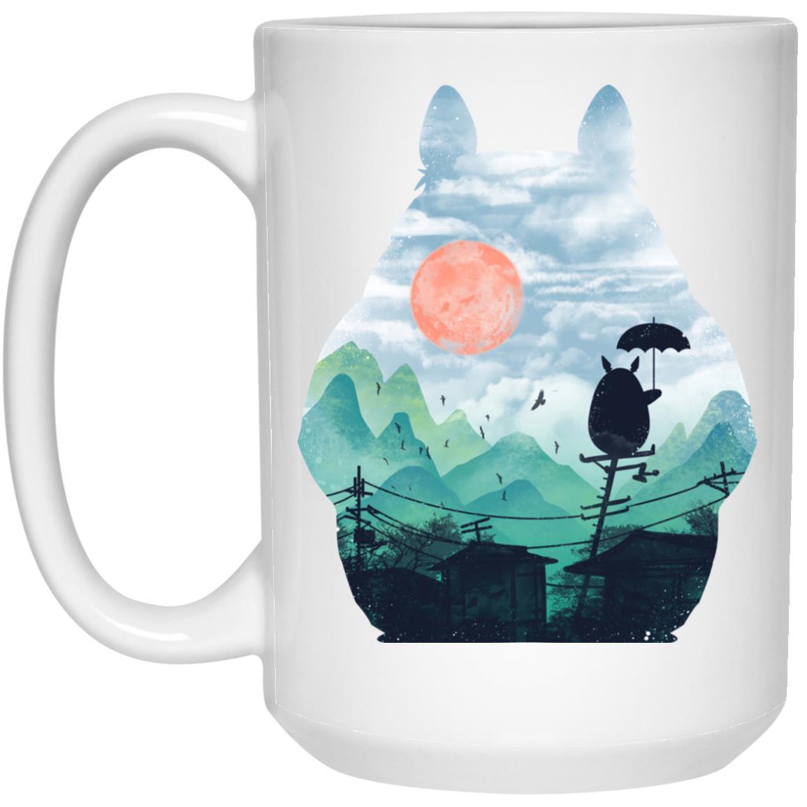 Totoro on the Line Lanscape Mug