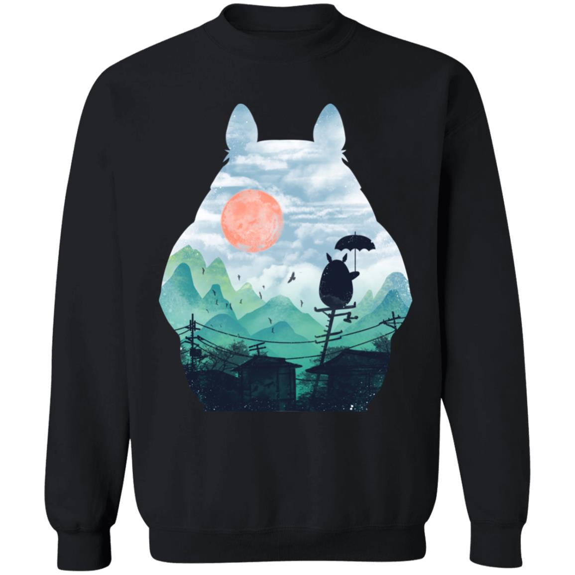 Totoro on the Line Lanscape Sweatshirt