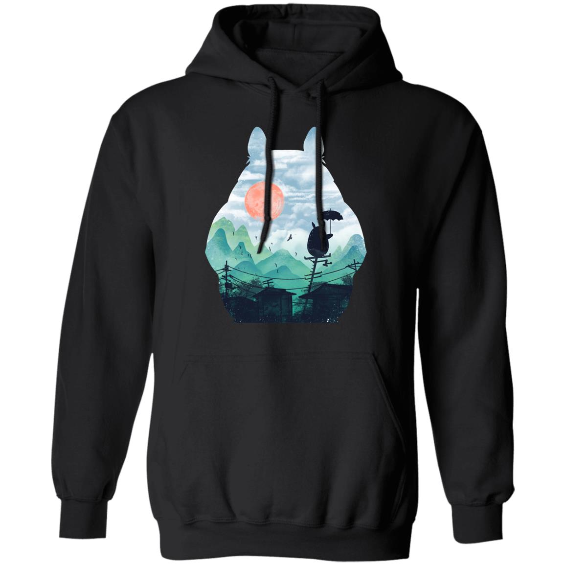 Totoro on the Line Lanscape Hoodie