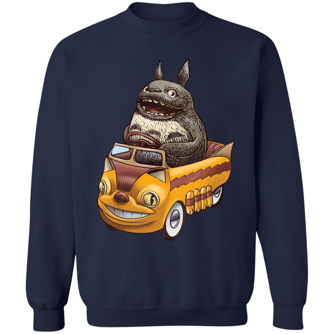 Totoro driving Batbus Sweatshirt
