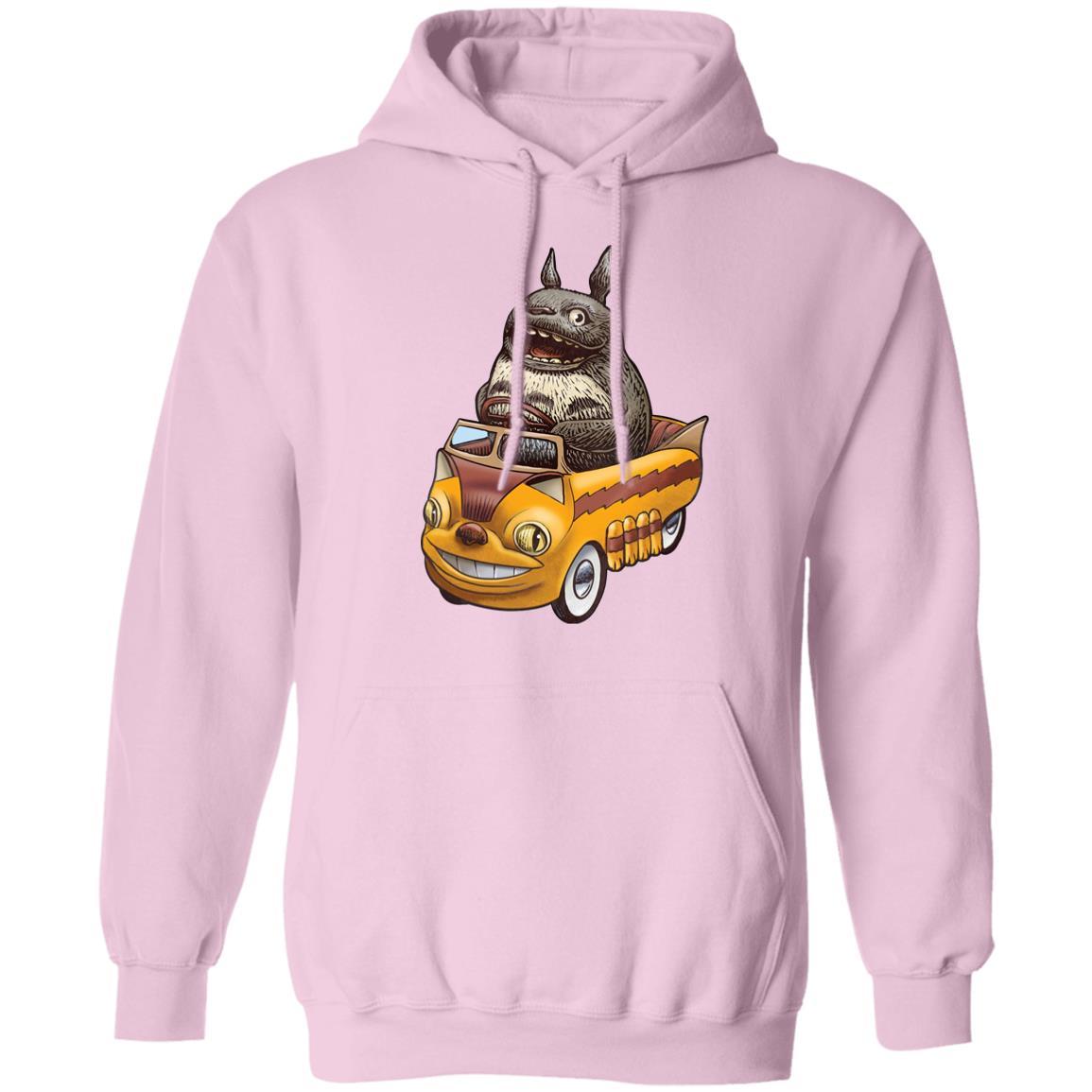 Totoro driving Batbus Hoodie