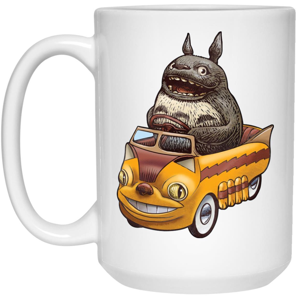 Totoro driving Batbus Mug