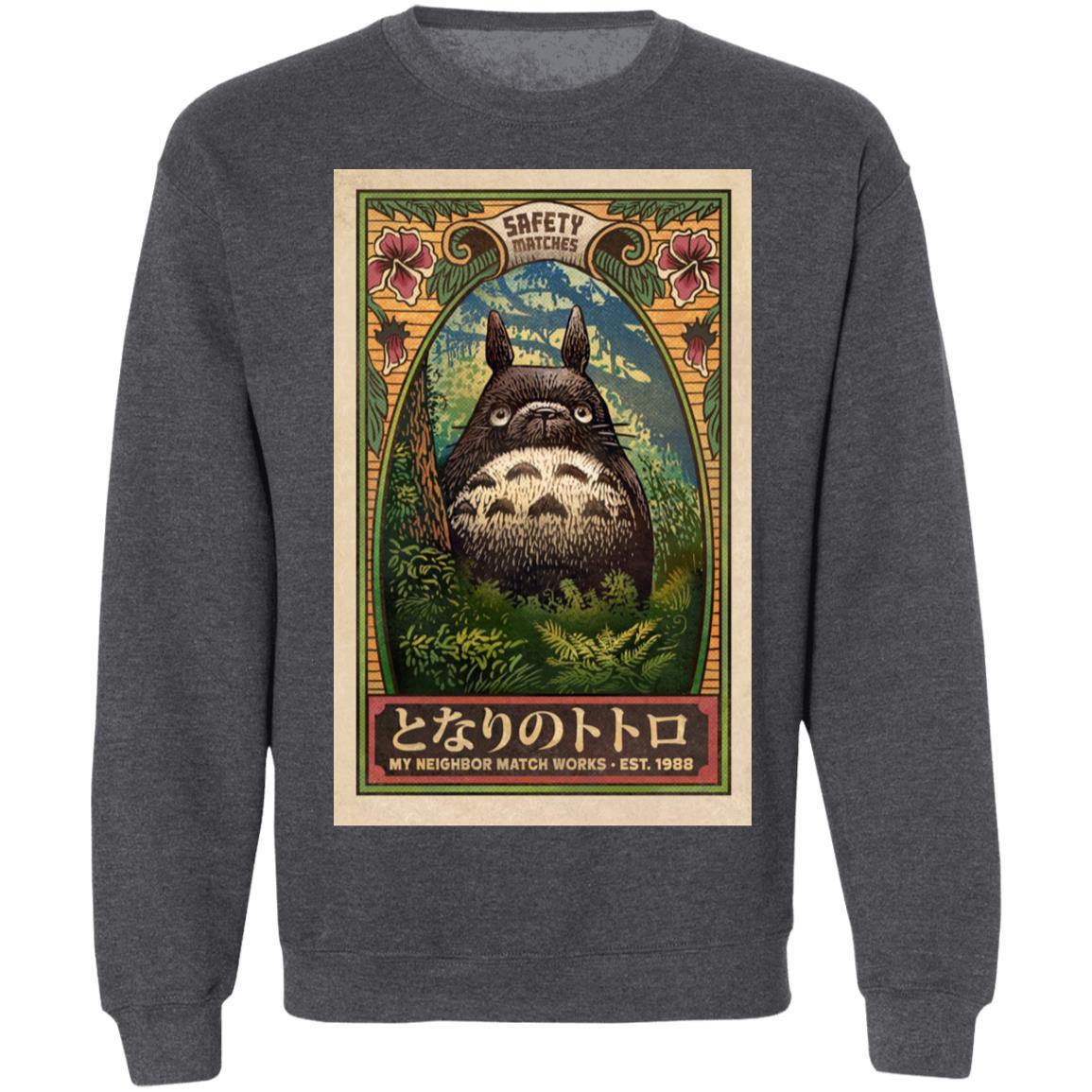 My Neighbor Totoro Safety Matches 1988 Sweatshirt