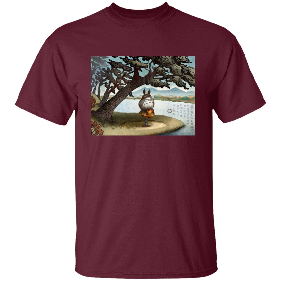 Totoro on the Catbus Spring Ride T Shirt