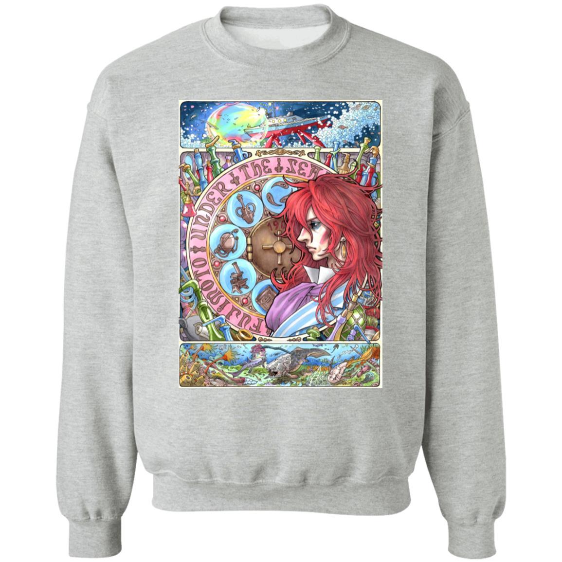 Ponyo's Father Portrait Art Sweatshirt
