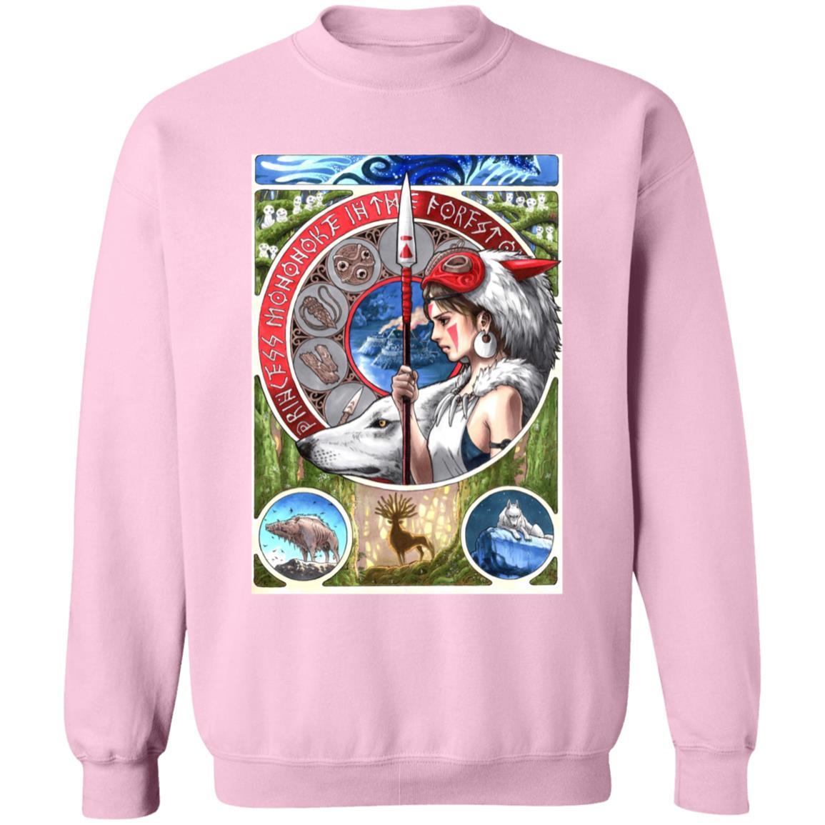 Princess Mononoke Portrait Art Sweatshirt