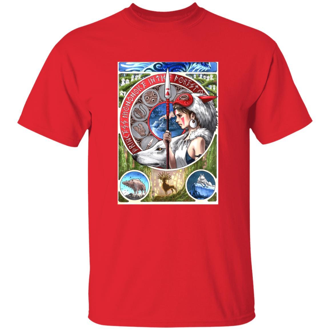 Princess Mononoke Portrait Art T Shirt