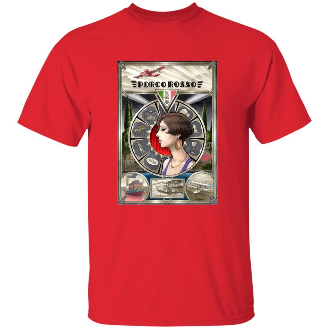 Porco Rosso Fiona Portrait Art T Shirt